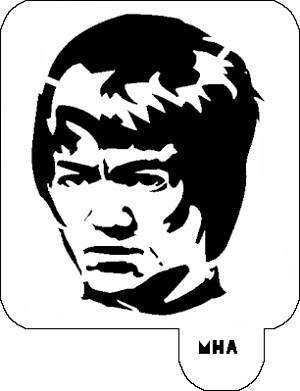 MR. HAIR ART STENCIL - BRUCE LEE 2