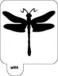 MR. HAIR ART STENCIL - DRAGONFLY 1