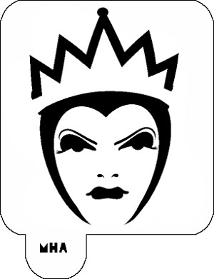 Mr. HAIR ART STENCIL - Evil Queen