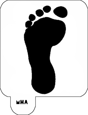 Mr. HAIR ART STENCIL - Footprint 1