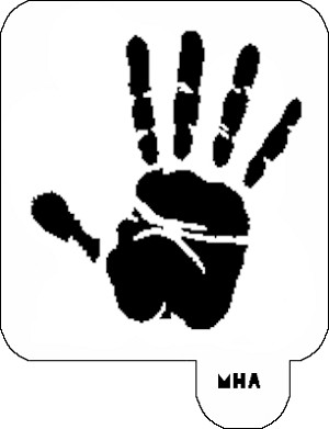 Mr. HAIR ART STENCIL - Hand Print 2