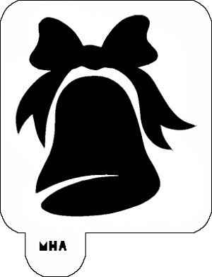 Mr. HAIR ART STENCIL - Holiday Bell
