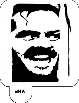 Mr. HAIR ART STENCIL - Jack Nicholson The Shining