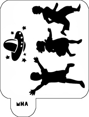 Mr. HAIR ART STENCIL - Kids and UFO