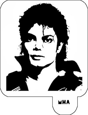 Mr. HAIR ART STENCIL - Michael Jackson 3