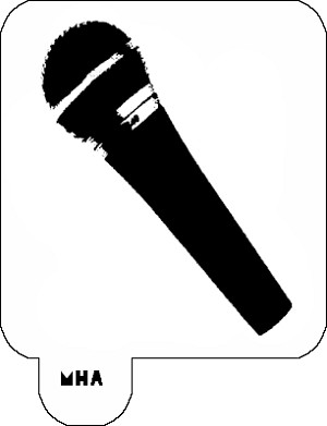 Mr. HAIR ART STENCIL - Microphone 1
