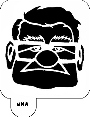 Mr. HAIR ART STENCIL - Mr Carl Fredricksen in Up