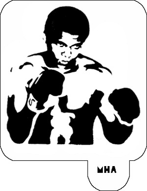 Mr. HAIR ART STENCIL - Muhammad Ali