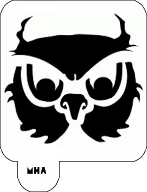 Mr. HAIR ART STENCIL - Owl 2