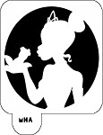 Mr. HAIR ART STENCIL - Princess and the Frog