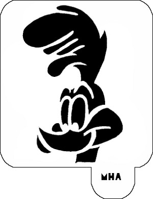Mr. HAIR ART STENCIL - Road Runner