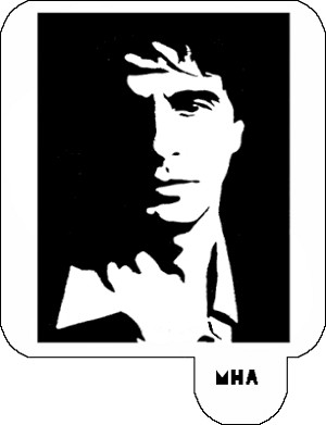 Mr. HAIR ART STENCIL - Scarface 1