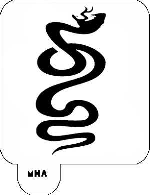 Mr. HAIR ART STENCIL - Snake 1