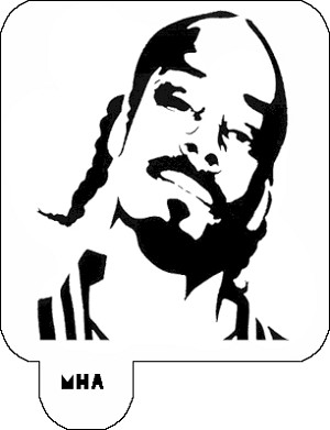 Mr. HAIR ART STENCIL - Snoop Dog 1
