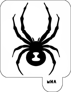 Mr. HAIR ART STENCIL - Spider 5