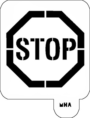 MR. HAIR ART STENCIL - STOP SIGN