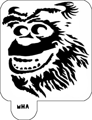 MR. HAIR ART STENCIL - SULLEY MONSTERS INC
