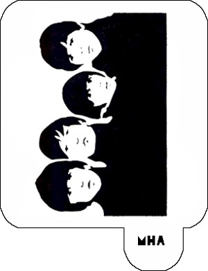 Hair Art Stencil - The Beatles