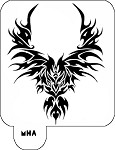 Hair Art Stencil - Wing Design 2