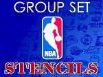 MR. HAIR ART STENCIL - NBA GROUP SET (35 STENCILS)