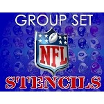 MR. HAIR ART STENCIL - NFL GROUP SET (35 Stencils)