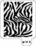 MR. HAIR ART STENCIL - ZEBRA PRINT