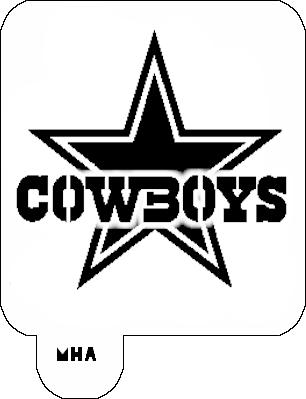 Mr Hair Art Stencil Dallas Cowboys Logo Mha 418